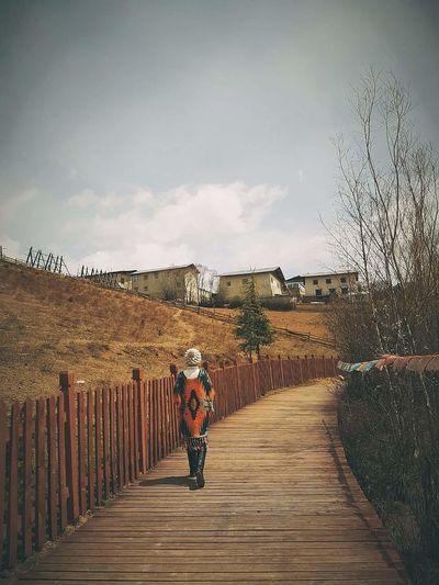 Walking People Outdoors China View Shangrila