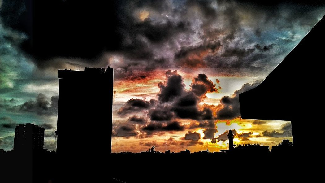 Silhouette Sky Sunset Cloud - Sky Nature Outdoors Beauty In Nature Night People