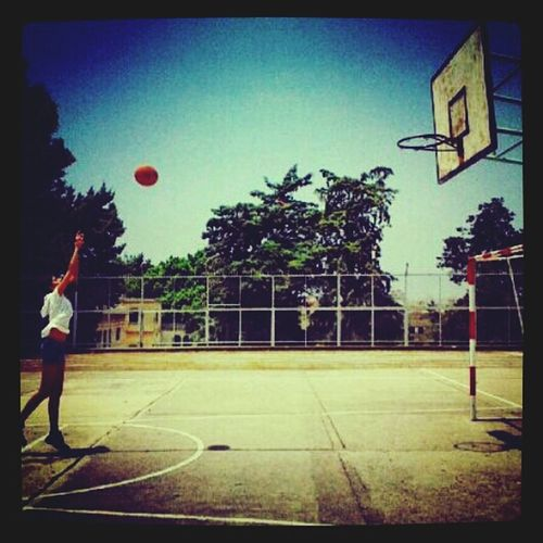 Me Playing Basketball All In The Air :)