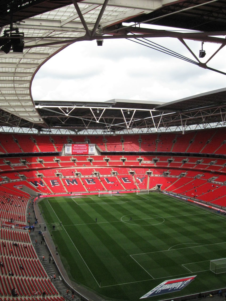 sport, stadium, grass, soccer, playing field, day, no people, soccer field, outdoors, sports team, sky