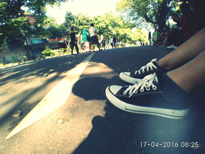 Just like a pair of shoes.. Always together but cant be together.. Hanging Out in Car Free Day Solo Indonesia. Relaxing our mind and soul First Eyeem Photo