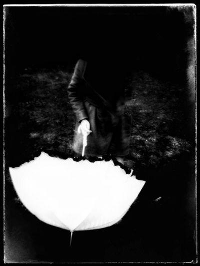 Umbrella White Blackandwhite Gohst Kleinecleo1000 Kickelhahn Thueringen Thueringerwald