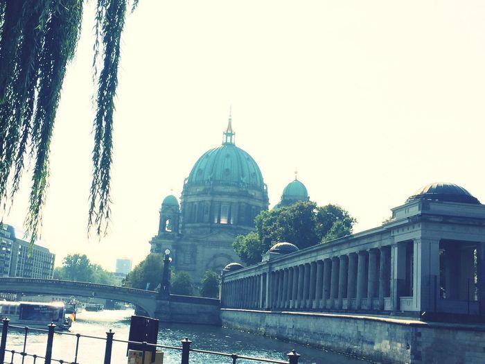 Museum Island Berlin Behind The Leaves