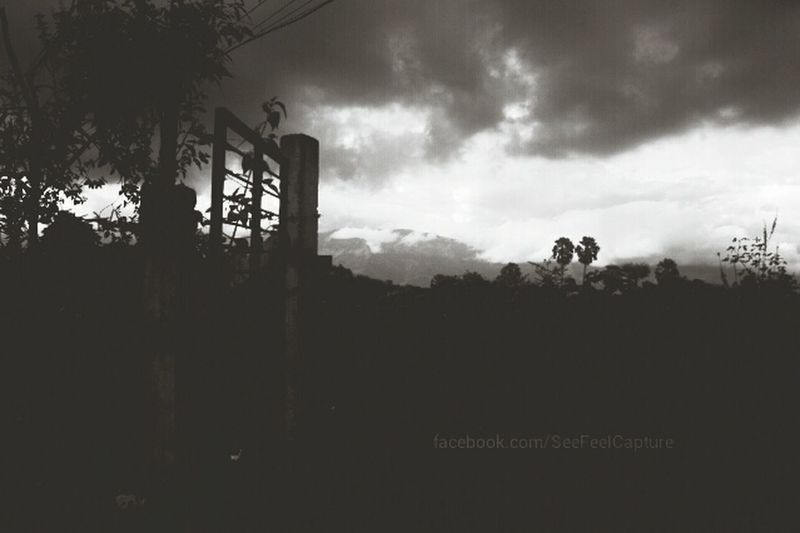 View infront of home! Palakkad Kerala Black And White Blackandwhitephotography