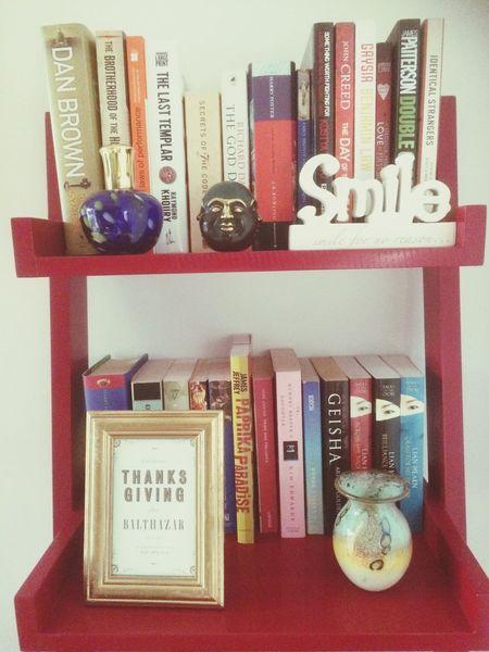 Everytime I visit and see this shelve I see love Smilefornoreason Buddha Thanksgiving Balthazar Books Memories