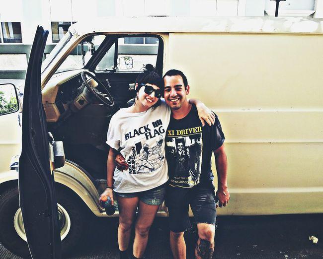 Bianca & Johnny. People Faces Of EyeEm Un Final Fatal Lil Bro Sisterinlaw Puerto Rico Puertorico Tour Punkrock Terror Van