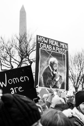 2017 D.C. Democracy Patriotism President Protest The Photojournalist - 2018 EyeEm Awards The Troublemakers Washington Architecture Art And Craft Built Structure City Civil Disobedience Communication Day Demonstration Emotion Government Holding Human Representation Low Angle View Mass Message National Mall Nature Outdoors People Placard Protest Protestor Representation Speak Truth To Power Speak Up Against Injustice Text Western Script Women Women's March