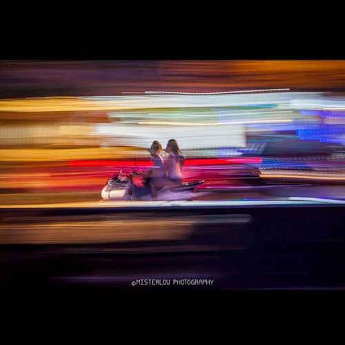 Ride through the lights