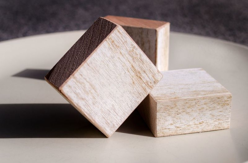 Close-up of toy blocks on table