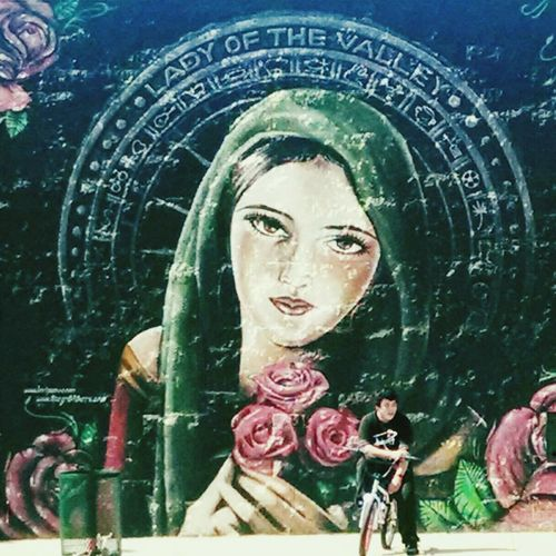"Mural Streetart ""Lady of the Valley"" Barrio"