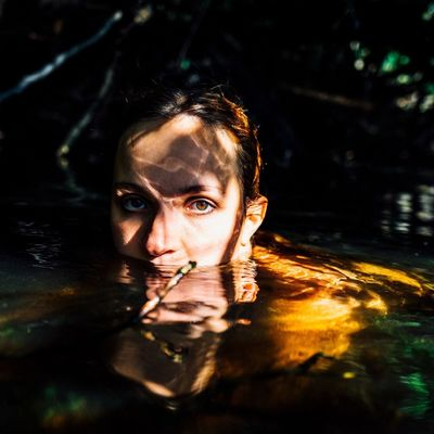 2/3 arise Water Reflection Looking At Camera One Person Young Adult Portrait Young Women Headshot Leisure Activity Real People Swimming Lake Front View Lifestyles Outdoors Underwater Day Nature Close-up Adult FUJIFILM X-T1