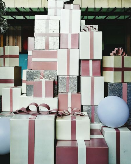 Stacked Gifts During Christmas
