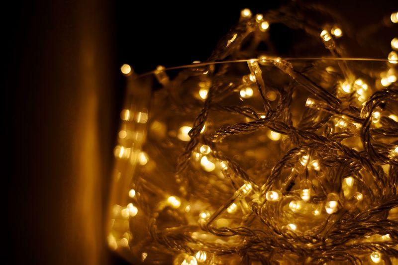 Christmas Celebration Decoration Christmas Decoration Illuminated Christmas Tree Lighting Equipment Christmas Ornament Christmas Lights Close-up Glowing Gold Colored Tradition Shiny Indoors  No People Holiday - Event Electricity  Night