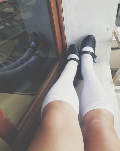 Low Section Human Leg Shoe Human Body Part High Angle View Standing One Person People Adults Only Indoors  Adult Lifestyles Real People Day Only Women Close-up Men