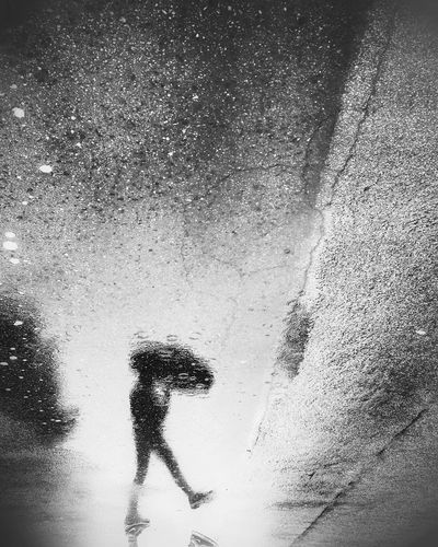 California Rain Umbrella Puddle Weather Rain Reflection Fine Art Photography Blackandwhite Shootermag Bw_collection EyeEm Best Shots Reflection