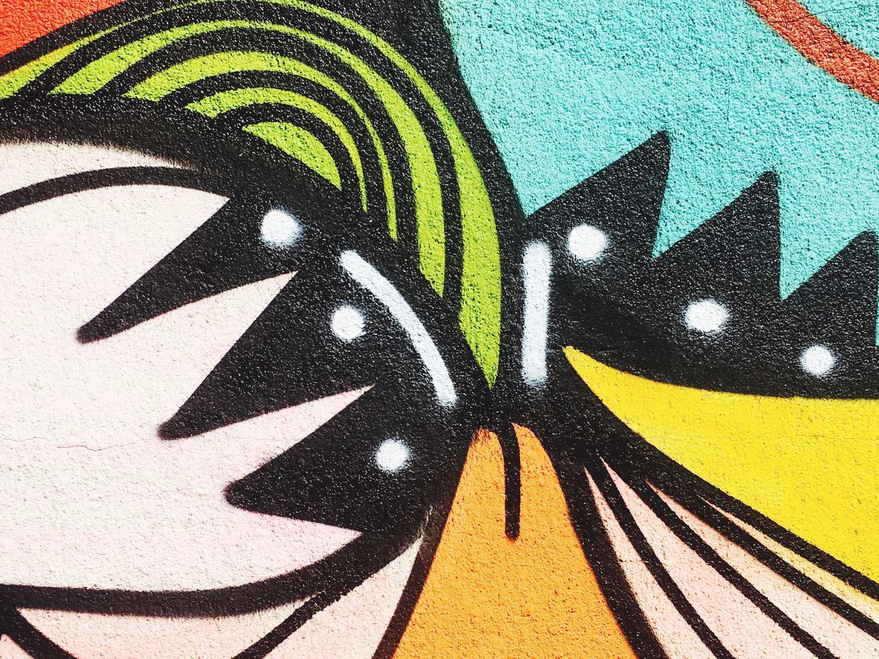 creativity, graffiti, multi colored, pattern, black color, no people, outdoors, close-up, day, animal themes