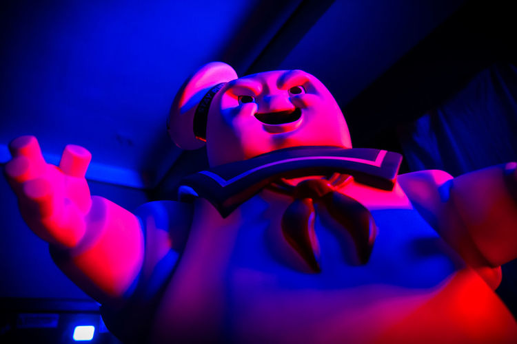 Blue Close Up Evil Ghostbusters Glow Low Angle View Mr. Stay Puft Red Stay Puft Marshmallow Man