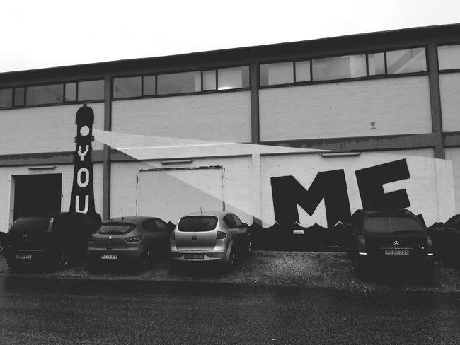 Aarhus, Denmark Black & White Grafitti Art. Wallpainting