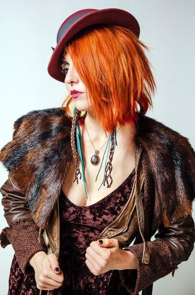 Let Your Hair Down Color Portrait Fashion Studio Shot