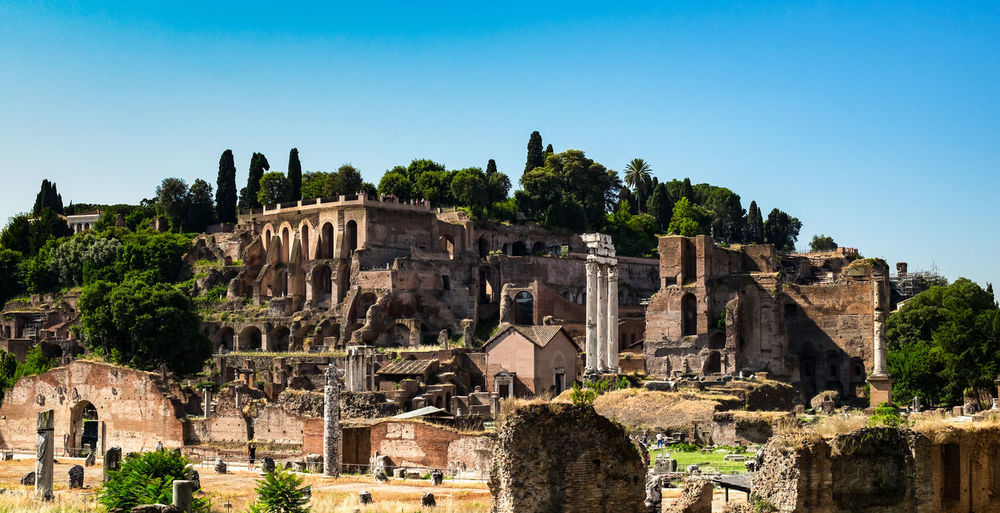 Ancient ruins of the roman forum