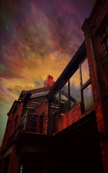 Cloud - Sky Drametic House No People Old House Ruins Sky Sunset