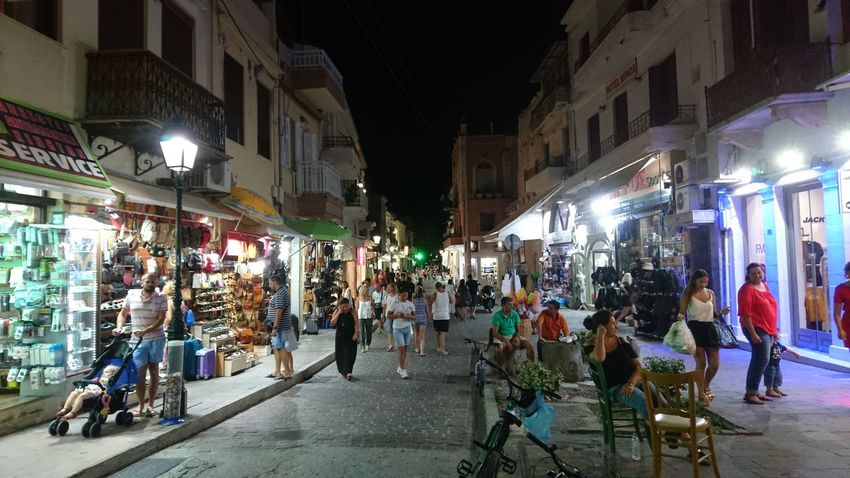 Large Group Of People Night City Street City Street Architecture Illuminated City Life Building Exterior Built Structure Men People Women Adult Outdoors Crowd Adults Only Crete Mediterranean Sea Rethymnon Rethymnon Crete The Week On EyeEm