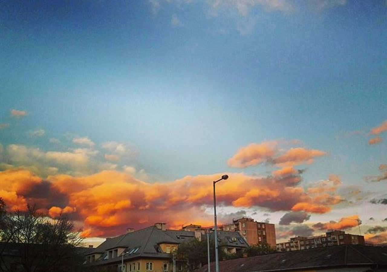 sky, built structure, architecture, cloud - sky, no people, building exterior, outdoors, sunset, day, nature, tree, city