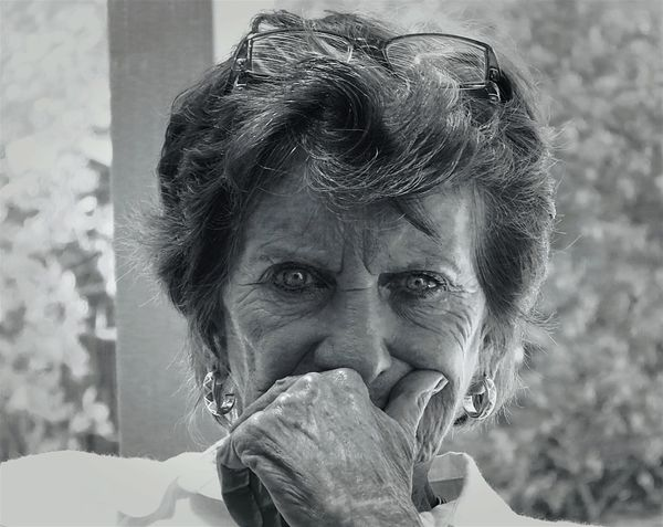 Emotional thought Eye4black&white  Emotions Captured People Photography Grandmother