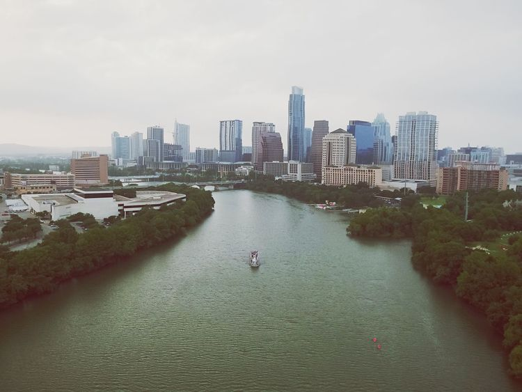 Eyes over Austin Architecture Building Exterior City High Angle View Water Cityscape River Waterfront Urban Skyline Austin Texas Austin, TX