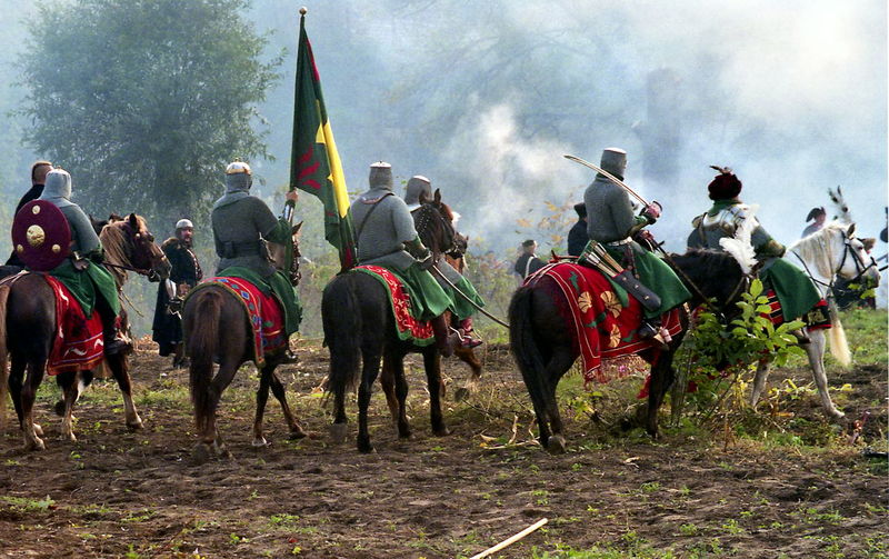 Battle Battlefield Cavalry Historical Reconstruction History Large Group Of People Leisure Activity Old Weapon Old Weapons Outdoors People Real People Reconstruction Group Soldiers Ukraine Vintage XVII Century
