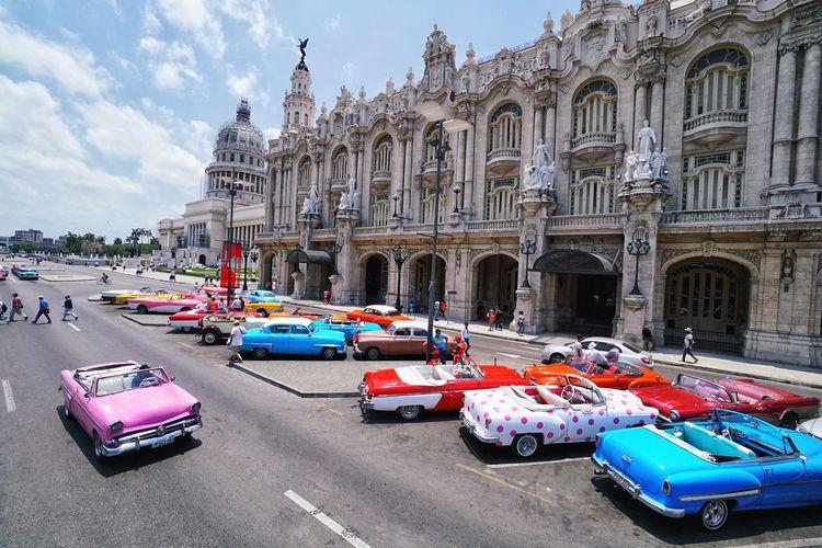 Classic Car Cuba Havana, Cuba Havana Built Structure Architecture Building Exterior Transportation Mode Of Transportation Motor Vehicle Sky Car City Building Day Travel Travel Destinations Outdoors History