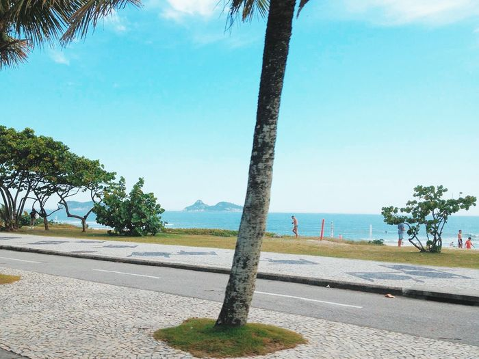 Rio de Janeiro Beach Blue Brazil Coastline Horizon Over Water Nature Outdoors Praia Rio De Janeiro Rio De Janeiro Eyeem Fotos Collection⛵ Scenics Sea Sky Tranquil Scene Tranquility Water