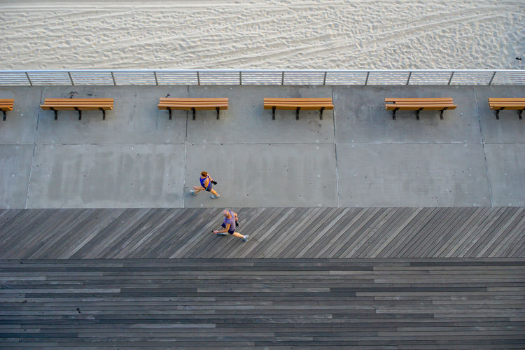 Boardwalk Waterfront Seaside Beach People People Watching People Photography Walk Walking High Angle View Aerial New York Long Beach Beach Geometric Shape Geometry Lines Above High Wood - Material Full Length Architecture 17.62° My Best Photo