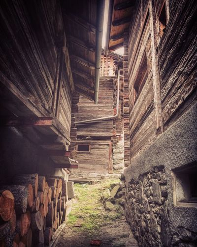 Mountain Wood - Material Architecture_collection Architecture Architecture Built Structure No People Building Exterior Building Day Staircase Outdoors Old Wall - Building Feature