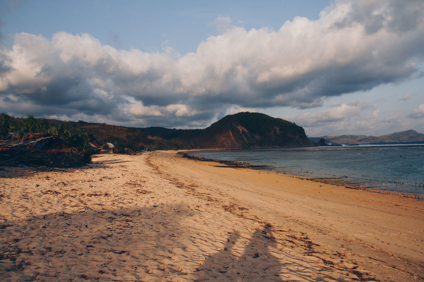 Beach Beauty In Nature Cloud - Sky Day Mountain Nature No People Outdoors Sand Scenics Sea Sky Tranquil Scene Tranquility Water