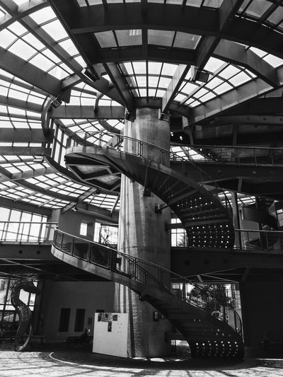 Built Structure Architecture Low Angle View Industry City Modern Day Office Building City Life Development Industrial Building  Architectural Feature No People Stairs b&w B&w Photography