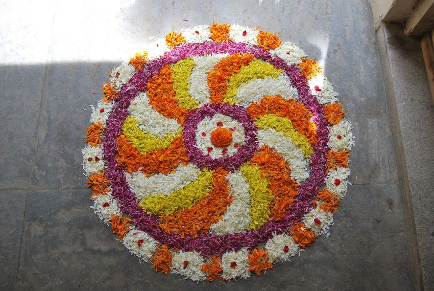 DIWALI CELEBRATION Celebration Diwali Festival Of Lights Festival Season FLOWER KOLAM Flowers Flowers,Plants & Garden High Angle View Incredible India India Tourism Kolam Multi Colored