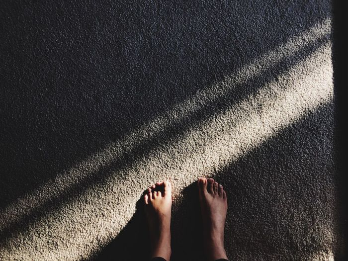 Feet EyeEm Selects Human Body Part Low Section Human Leg Body Part Shadow One Person Adult Human Foot High Angle View Nature Personal Perspective Day Outdoors Standing Women Lifestyles Real People Sunlight Directly Above barefoot 17.62°