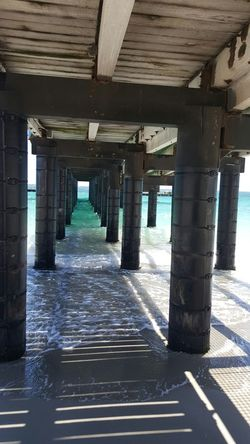 The pier at Woodman point. Perth, Western Australia Ocean Sea And Sky Underneath Built Structure Pier First Eyeem Photo