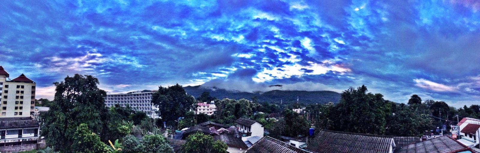 Clouds And Sky Panorama Evening Sky