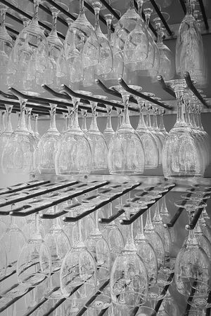 Glasses on the wall Glasses Glassware Blackandwhite Wallpaper Creativity Black And White Black & White Blackandwhite Photography EyeEm Best Shots Eye4photography  Eye4black&white  Backgrounds Close-up Repetition Pattern