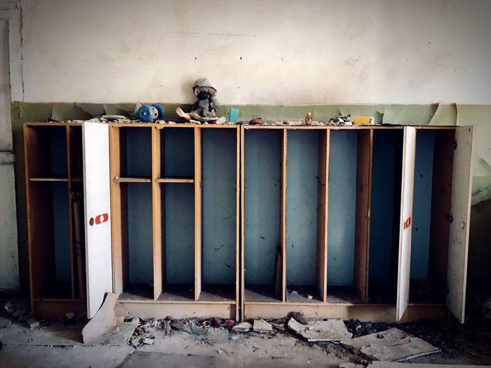 Open door of abandoned building