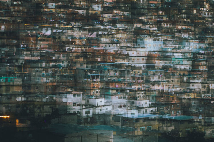 Double Exposure Of Residential District