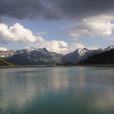 Alpen Alps Stausee Berge Mountains Mountains And Sky