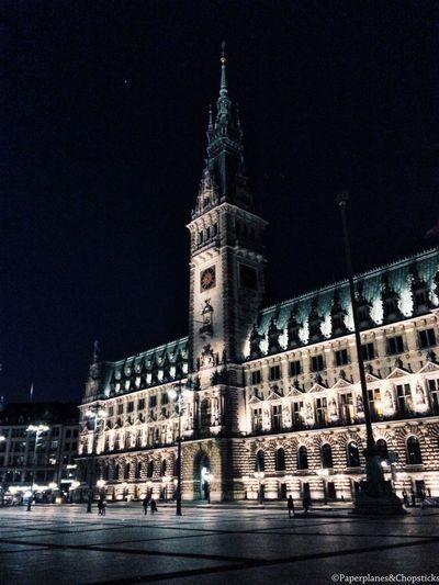 Hamburg at night. Hamburg Nightphotography Destinationgermany Architecture Building Exterior Deutschland Mytravelgram Showcase April