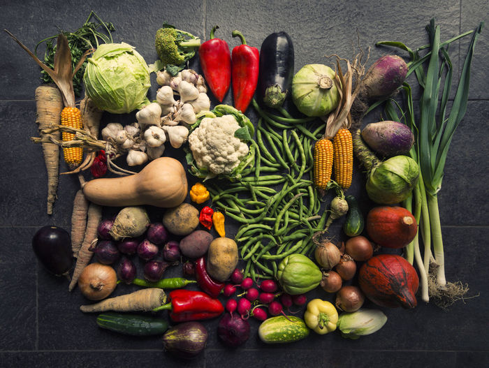 Various vegetables in container