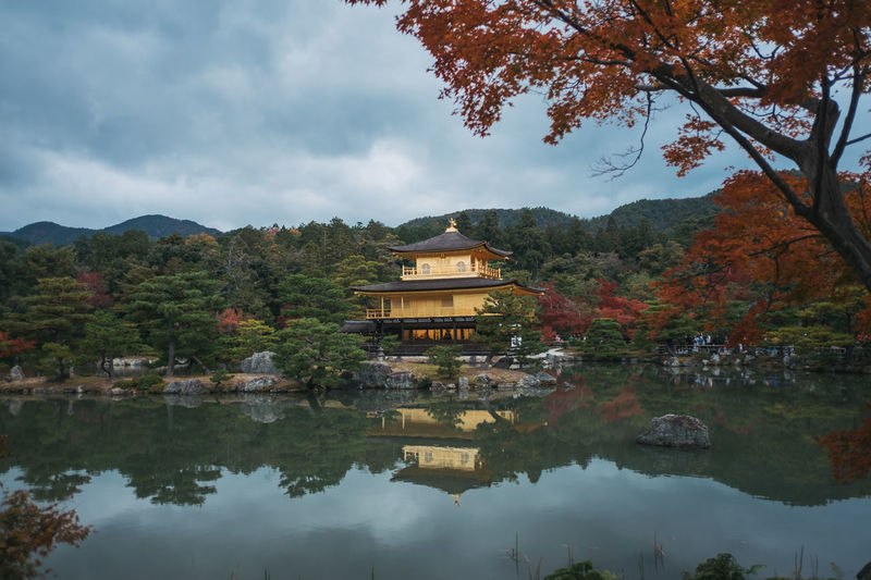 Japan Travel Photography Architecture Autumn Beauty In Nature Branch Building Exterior Built Structure Cloud - Sky Day Golden Pavilion  Kyoto Kyoto,japan Lake Mountain Nature No People Outdoors Place Of Worship Reflection Religion Sky Tranquility Tree Water