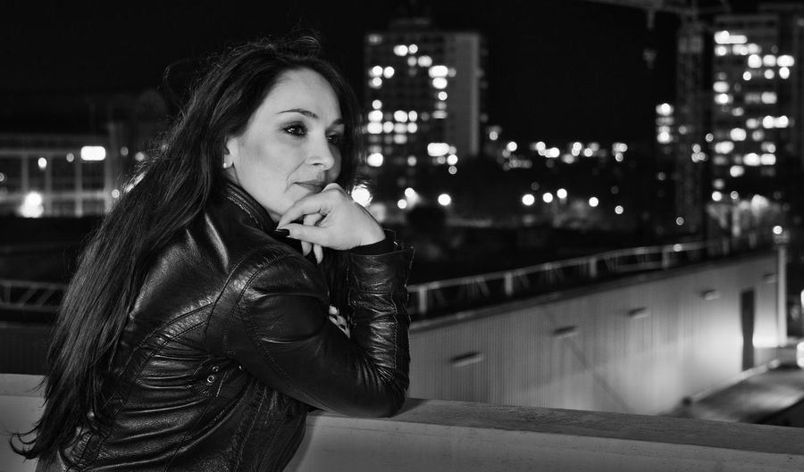...in another place, in another time.... Rooftop Skycrapercity Skycrapers Citylights✨ Nightlights Womanportrait Woman Portrait Lifestyle People Leather Jacket Blackhair Freedom Lonliness Nightportraits Nightphotography Nightphotography Black & White Freedom Independence Strength City Illuminated Beautiful Woman Beautiful People Women City Life Street Light Pensive Relationship Difficulties Thoughtful Caucasian The Portraitist - 2019 EyeEm Awards