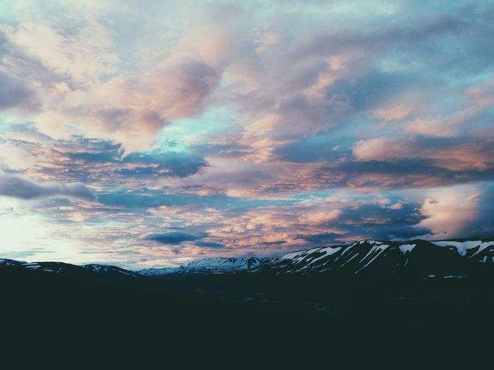 sunset over akureyri Sunset Iceland Travel Vacation Time