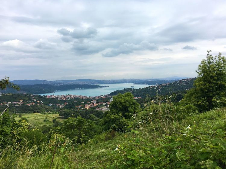 Sky No People Green Color Outdoors Landscape Water Cityscape Cloud Cloudy Day Paysage City View  Bosphorus Sarıyer Istanbul Turkey